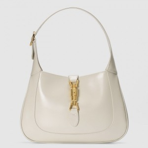 Gucci Jackie 1961 Small Hobo Bag In White Leather