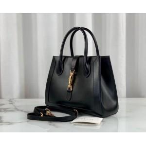 Gucci Jackie 1961 Medium Tote Bag In Black Leather