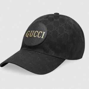 Gucci Black Original GG canvas baseball hat