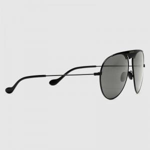 Gucci black and grey Aviator sunglasses
