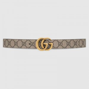 Gucci GG Marmont reversible black leather belt