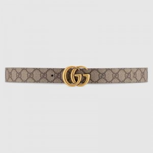 GG Marmont reversible brown leather belt
