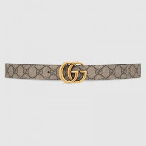 Gucci GG Marmont reversible white leather belt